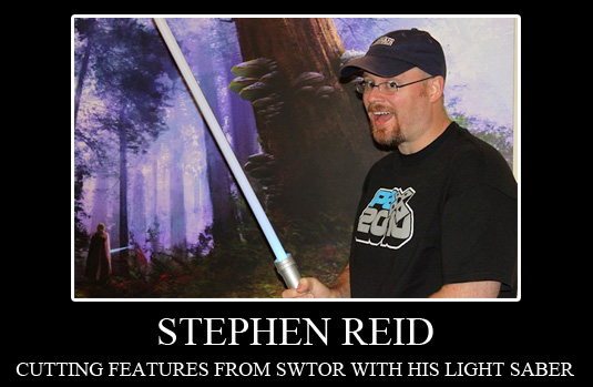 Stephen Reid Cuts Features from SWTOR