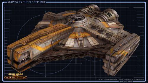 Smuggler Starship XS Stock Light Concept Art 1