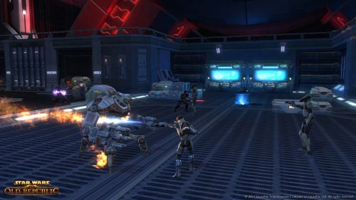 An Elite Imperial Strike Team Defends The Black Talon From A Republic Assault.